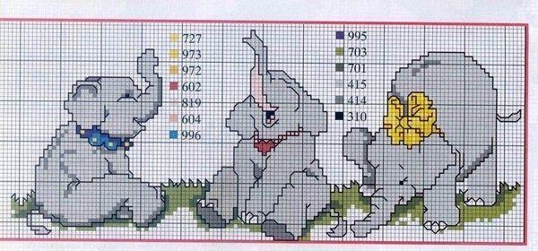 Les fans d 39 elephant le blog des dames - Grilles gratuites point de croix bebe ...